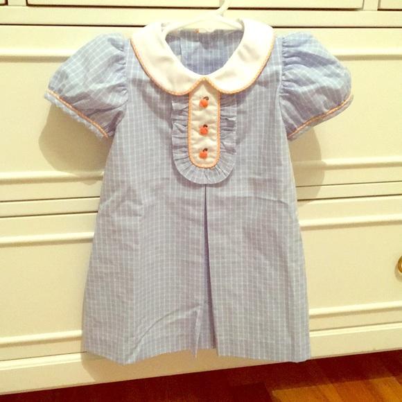 e9f4b0e718c Shrimp   Grits Kids fall pumpkin dress. M 5aaec24772ea889df8d28581